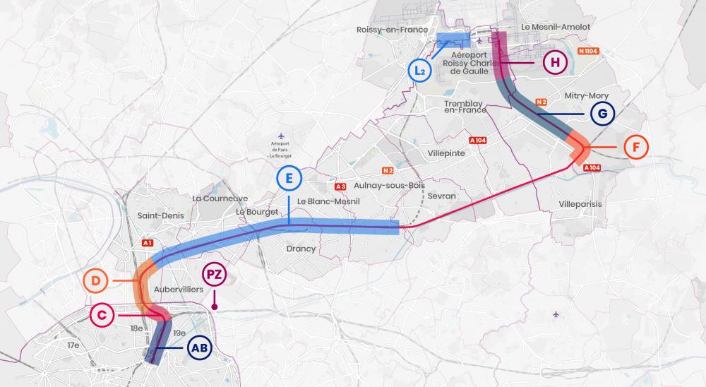 CDG Express - Carte des travaux