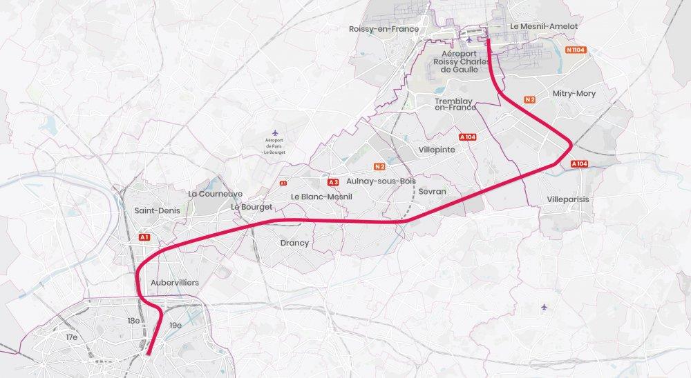 CDG Express - Tracé de la ligne