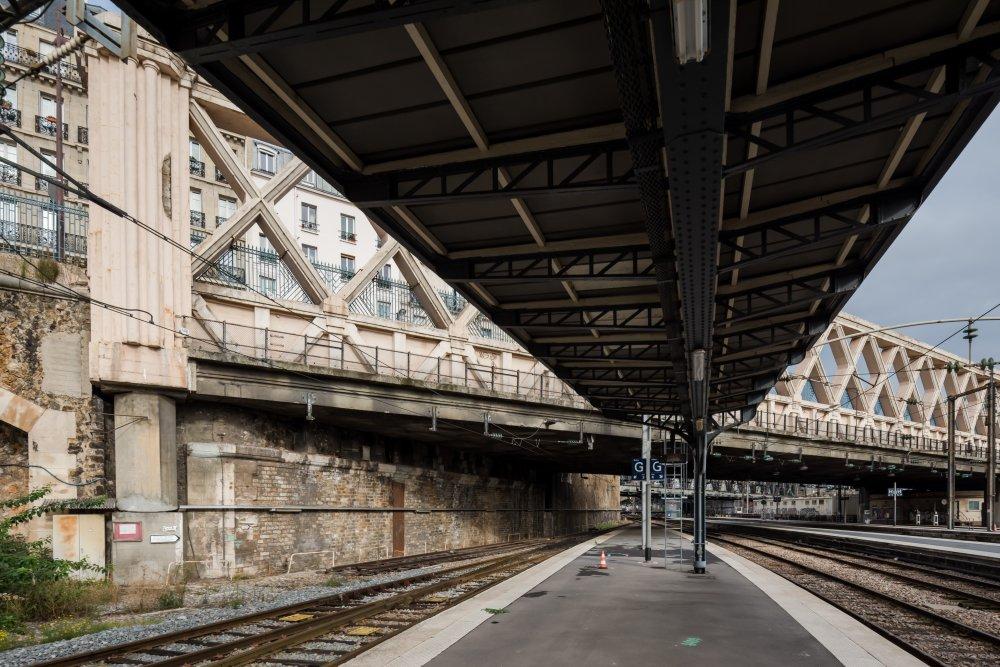 CDG Express - Gare de l'Est - Vue des quais acceuillant le CDG Express