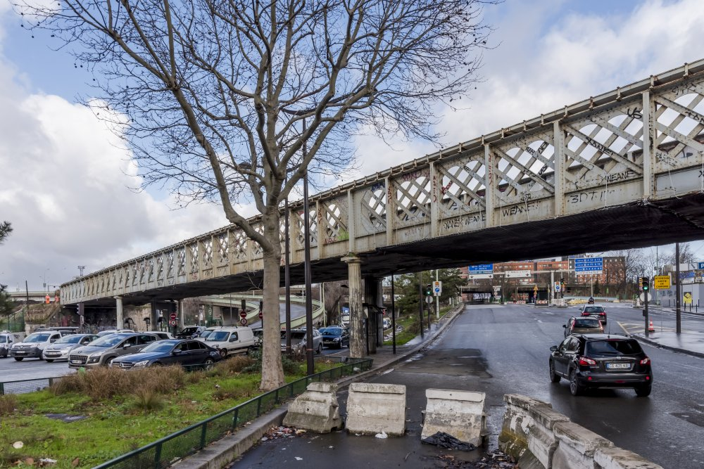 CDG Express - Un des ponts de la Porte de la Chapelle