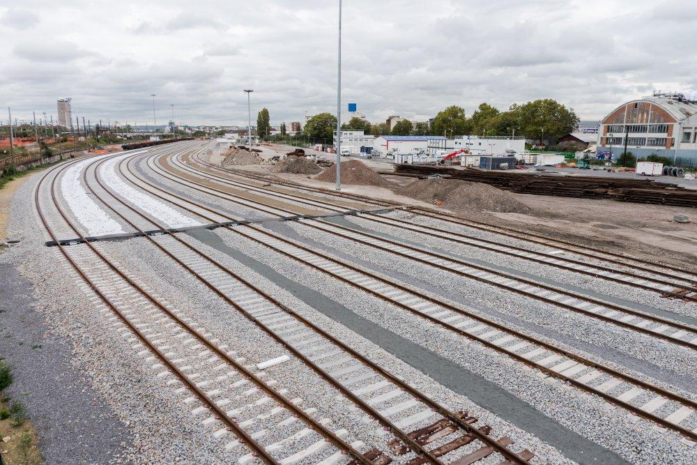 CDG Express - Rails renouveles zone Saint Denis