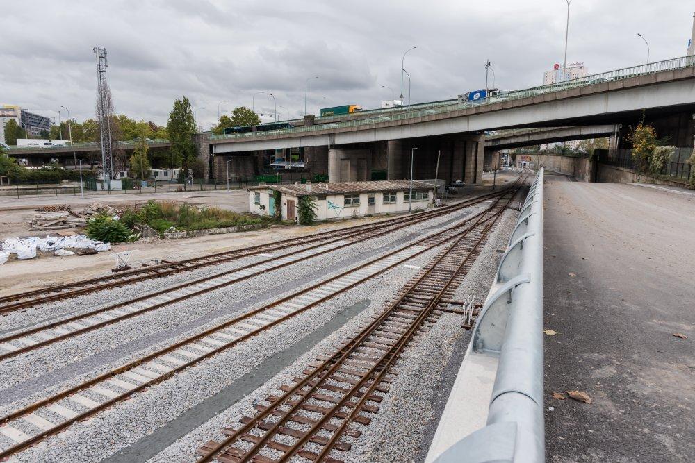 CDG Express - Voies renouvellees au niveau de Saint Denis