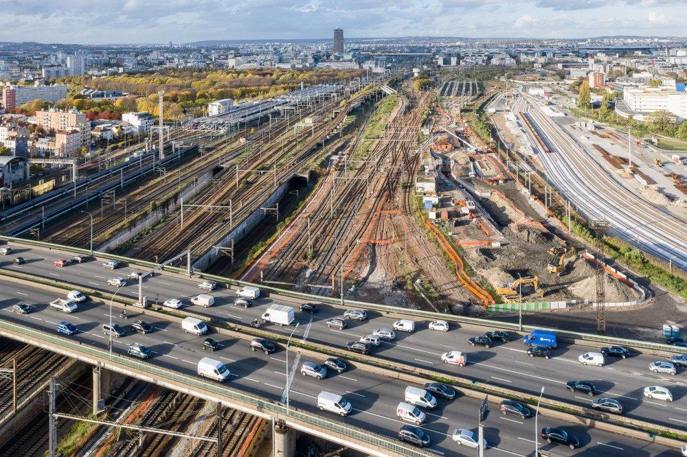CDG Express - Vue aerienne de la Porte de la Chapelle