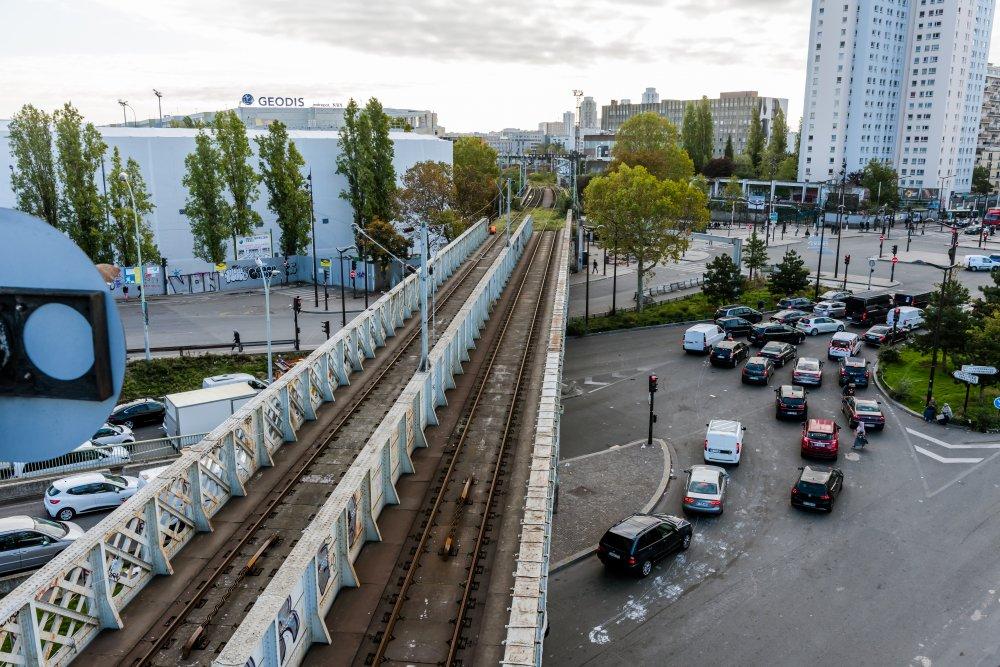 CDG Express - Vue d un des ponts de la Porte de la Chapelle
