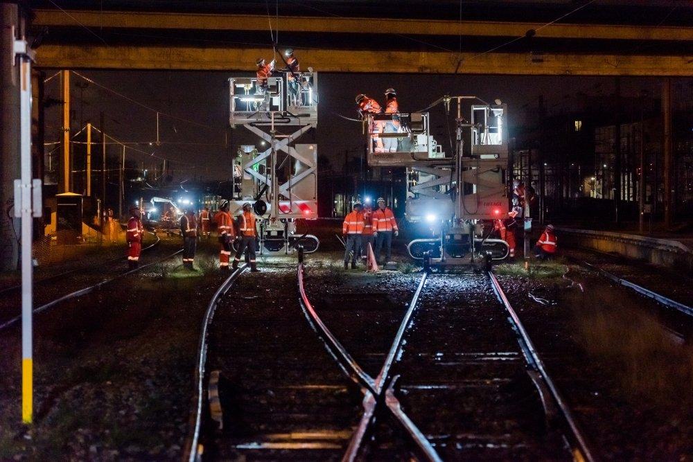 CDG Express - Construction des voies